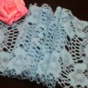 Fluffy Ribbons, Cloth, blue, 100cm  x 12cm (approximate), (HPB002)
